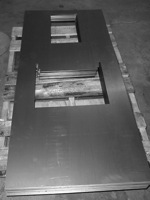 curved sheet metal part