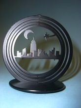 custom metal 3-d 3d nyc new york skyline ornament