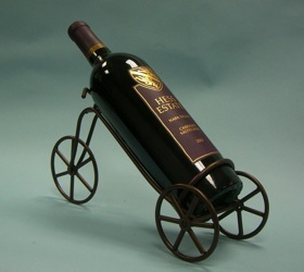 metal wire wine display tricycle