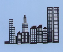 NYC metal skyline custom