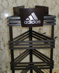 adidas shoe display rack store retail fixture