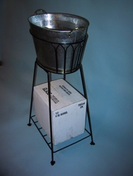 wire ice bucket stand custom point of purchase