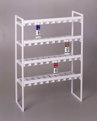 invertible paint display metal shelve store shelf fixture