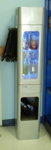 chiller cooler bottle liquor  display metal illuminated absolut