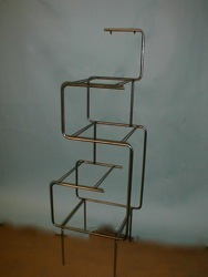 tubular frame acrylic shelf shoe display store fixture