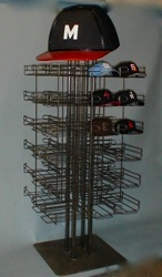 metal wire hat display baseball custom