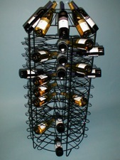 wine display rack point of purchase
