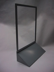 counter sign holder metal frame poster display