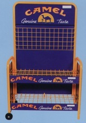 camel cart newspaper rack display point of purchase