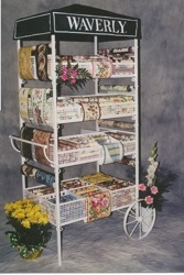 metal waverly flower cart wallpaper display custom