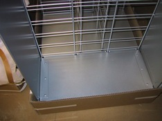 sheet metal and wire display frame custom